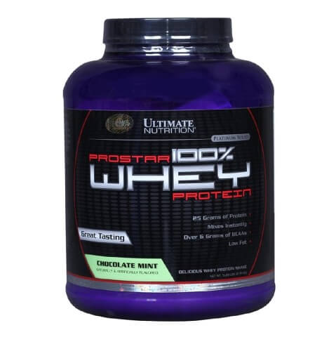 Ultimate Nutrition Prostar 100% Whey Protein,  5.28 lb  Chocolate Mint