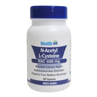 Healthvit N-Acetyl L-Cysteine (600mg),  60 capsules