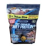 MuscleTech 100% Premium  Whey Protein +,  5 lb  Chocolate