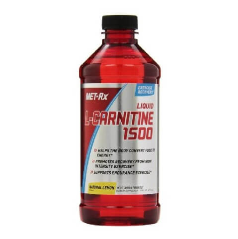MetRx Liquid L-Carnitine 1500 with Vit B5,  0.473 L  Natural Lemon