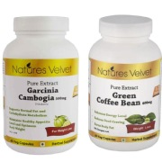 Natures Velvet Pure Extract Garcinia Cambogia (500mg) + Green Coffee Bean (400mg),  120 veggie capsule(s)  Unflavoured