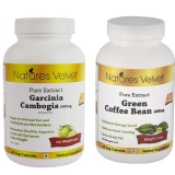 Natures Velvet Pure Extract Garcinia Cambogia (500mg) + Green Coffee Bean (400mg),  120 Veggie Capsule(s)