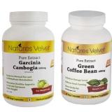 Natures Velvet Pure Extract Garcinia Cambogia (500mg) + Green Coffee Bean (400mg),  120 Veggie Capsule(s)