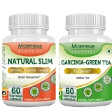 Morpheme Remedies Garcinia Cambogia Green Tea + Natural Slim,  120 Capsules