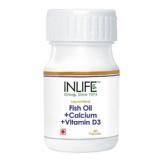 INLIFE Fish Oil + Calcium + Vitamin D3 (500 Mg),  60 Capsules