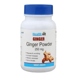 Healthvit Ginger powder (250mg),  60 capsules