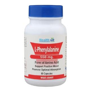 Healthvit L-Phenylalanine (550 mg),  60 capsules