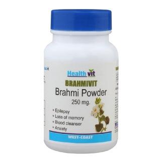 Healthvit Brahmvit Bramhi powder (250mg),  60 capsules
