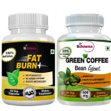 St.Botanica Fat Burn+ + Green Coffee Bean Extract,  2 Piece(s)/Pack  Unflavoured