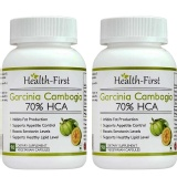 Health First Garcinia Cambogia 70% HCA (Pack Of 2),  90 Veggie Capsule(s)