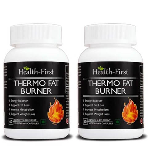 Health first Thermo Fat Burner (Pack of 2),  60 veggie capsule(s)  Unflavoured