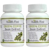 Health first Green Coffee Bean Extract (Pack of 2),  60 veggie capsule(s)