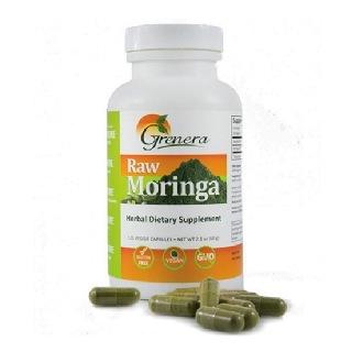 Grenera Raw Moringa Capsules,  120 veggie capsule(s)