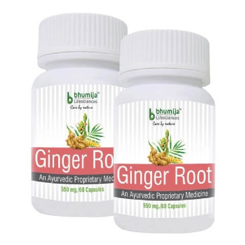 Bhumija Ginger Root (Pack of 2),  60 capsules