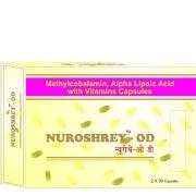 Shrey's Nuroshrey-OD (Methylcobalamin & Folic Acid),  60 capsules