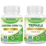 Morpheme Remedies Garcinia-Green Tea + Triphala,  120 Veggie Capsule(s)  Unflavoured