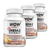 WOW Omega 3 (Pack Of 3),  60 Capsules