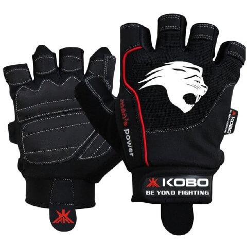 KOBO Gym Gloves (WTG-07),  Black  Small