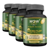 WOW Garcinia Plant Extract 85% HCA (Pack Of 4),  90 Veggie Capsule(s)