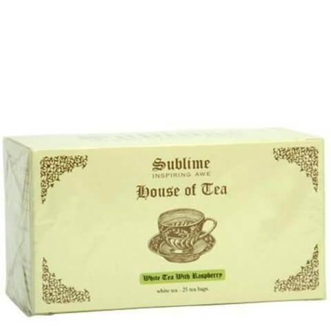 Sublime House of Tea White Tea,  White Tea With Raspberry  25 Piece(s)/Pack