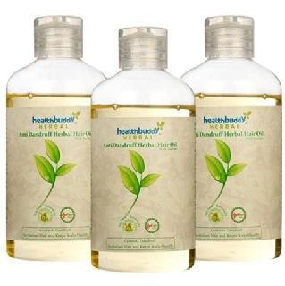 Healthbuddy Herbal Hair Oil (Pack Of 3),  200 Ml  Anti-Dandruff