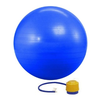 KOBO Anti-Burst Gym Ball With Foot Pump (GB-2-65),  Blue  65 cm