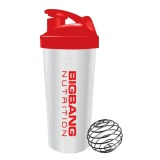 BigBang Nutrition Blender Ball Shaker,  Red & White  500 Ml