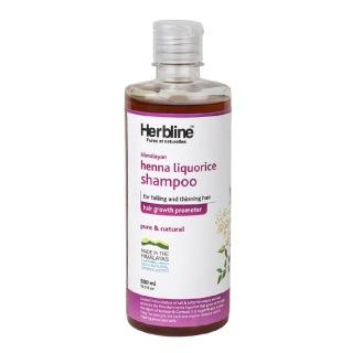 Herbline Henna Liquorice Shampoo,  500 ml  Hair Growth Promoter