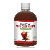 HealthViva Apple Cider Vinegar 100% Natural,  0.5 L  Unflavoured