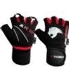 KOBO Gym Gloves (WTG-08),  Black & Red  XL
