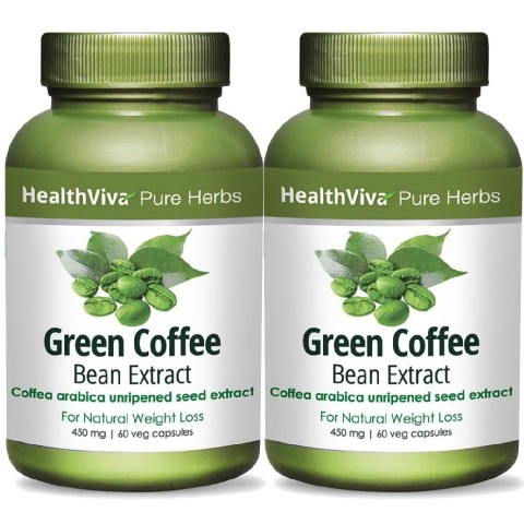HealthViva Pure Herbs Green Coffee Extract - Pack of 2
