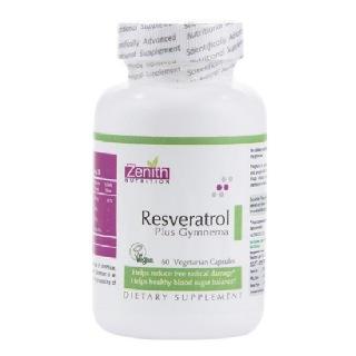Zenith Nutrition Resveratrol Plus Gymnema,  60 capsules