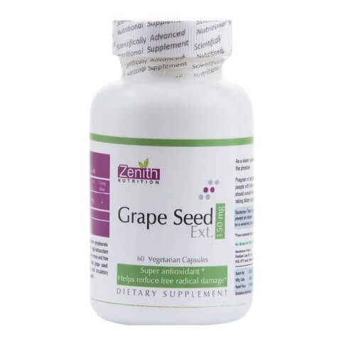 Zenith Nutrition Grape Seed Extract (150mg),  60 veggie capsule(s)