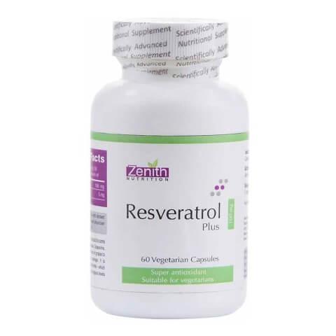 Zenith Nutrition Resveratrol Plus (100 mg),  60 capsules