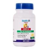 Healthvit Vitamin D3 (5000 IU),  60 Tablet(s)