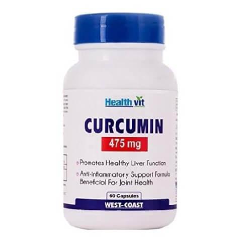 Healthvit Curcumin (475 mg),  60 capsules
