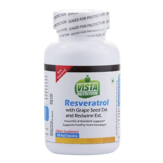 Vista Nutrition Resveratrol Grape Seed Ext Red Wine Ext,  60 capsules