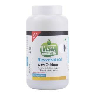 Vista Nutrition Resveratrol & Calcium,  240 capsules