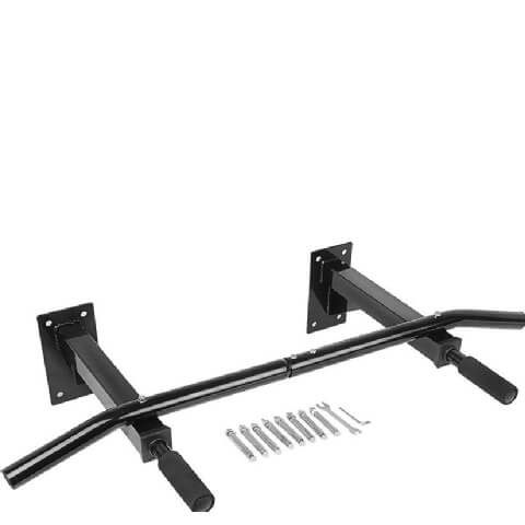 KOBO Wall Mounted Pull Up Bar (DPU-4),  Black  Free Size