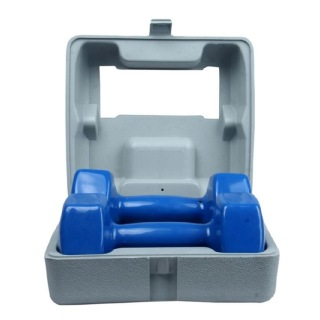 B Fit USA Vinyl Dumbbell With ABS Box (AB16034-ABS),  Blue  5 kg
