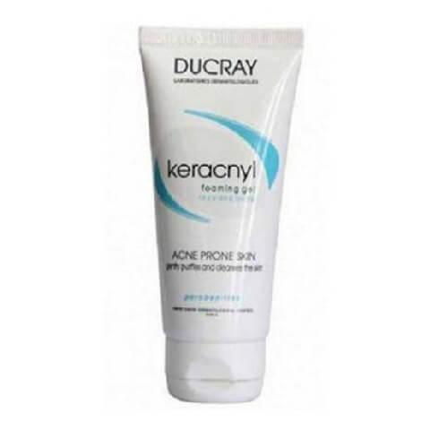 Ducray Keracnyl Foaming Gel,  100 ml  Face & Body Acne Prone Skin