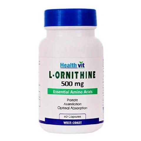 Healthvit L-Ornithine (500 mg),  60 capsules