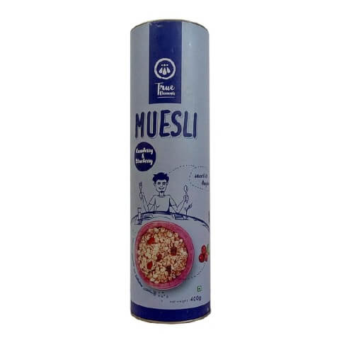 True Elements Cranberry & Blueberry Muesli,  Natural  400 g