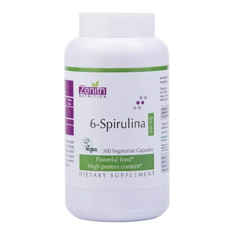 Zenith Nutrition 6-Spirulina (500mg),  300 capsules