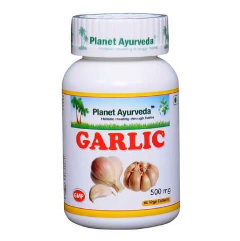 Planet Ayurveda Garlic (500 mg),  60 veggie capsule(s)