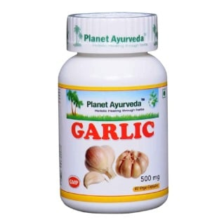 Planet Ayurveda Garlic (500 mg),  60 veggie capsule(s)