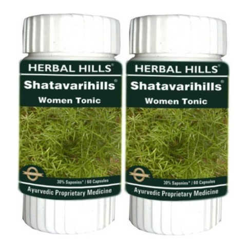 Herbal Hills Shatavarihills,  60 capsules  - Pack of 2