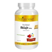 Natures Velvet Shilajit Pure Extract (500 mg),  60 capsules