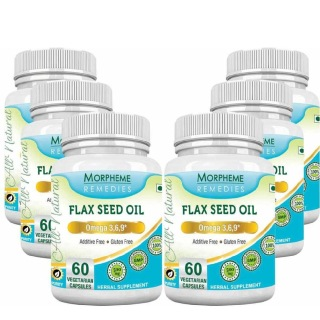 Morpheme Remedies Flax Seed Oil (500 mg),  6 Piece(s)/Pack