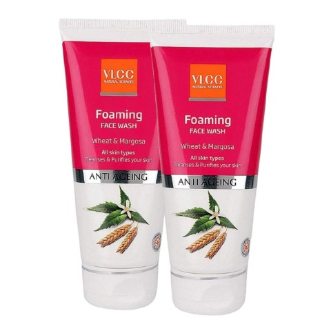 VLCC Foaming Face Wash - Pack of 2, 100 ml Anti Ageing